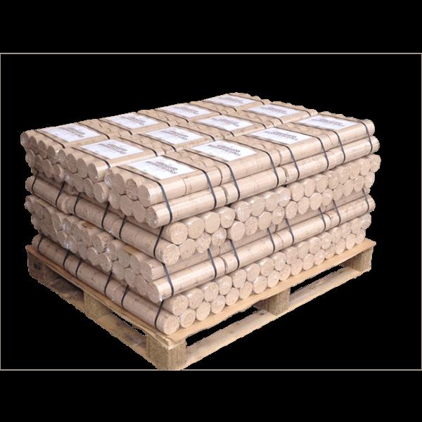 Hardwood Briquette Logs - Half Pallet