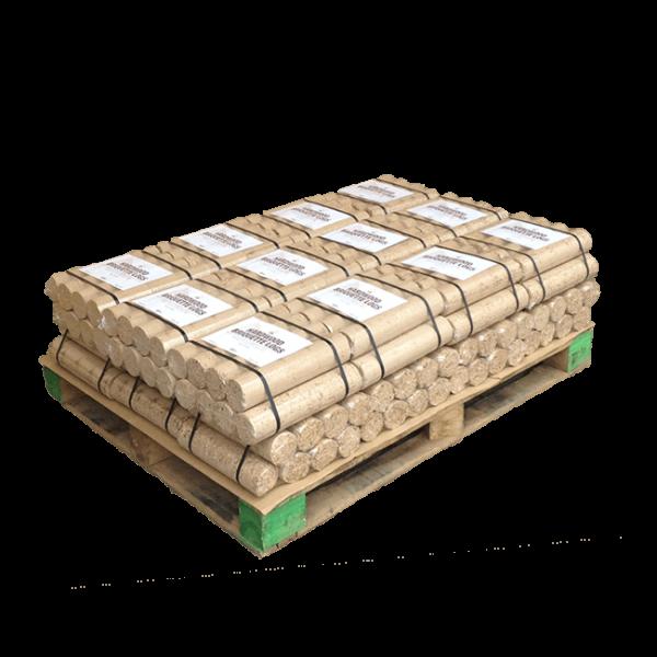Hardwood Briquette Logs - Quarter Pallet